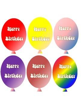 Birthday Balloon Printables (Party favors, rewards)