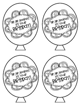 Birthday Balloon Silly Straw Toppers - Printer Friendly