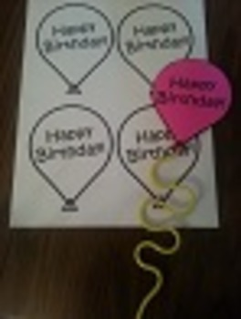 Birthday Balloon Silly Straws