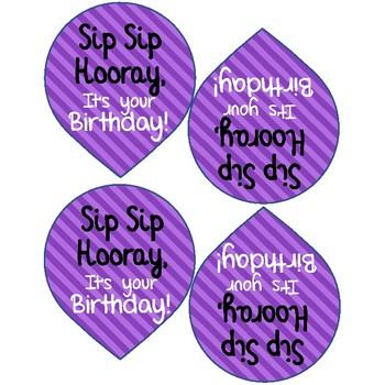 Birthday Balloon Straws-EASY birthday gift for students!