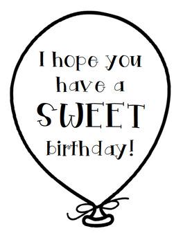 Birthday Balloon Tags