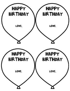 Birthday Balloon Template