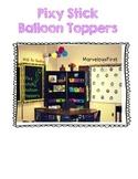 Birthday Balloon Toppers FREEBIE