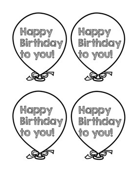 Birthday Balloon Toppers FREEBIE