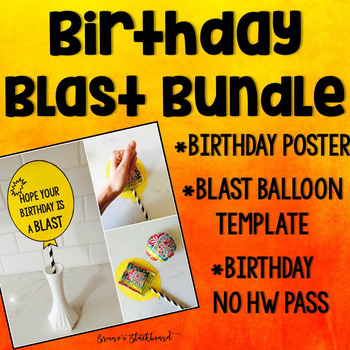 Birthday Balloon for Wack-A-Pack & Birthday Poster