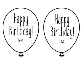 Birthday Balloon template!
