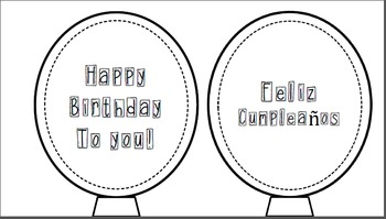 Birthday Balloon template