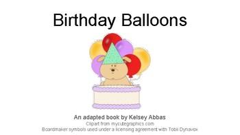 Birthday Balloons Adapted Book