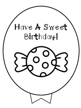 Birthday Balloons Candy Theme Freebie