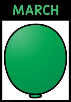 Birthday Balloons Chart Display- Editable