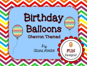 Birthday Balloons: Chevron Themed