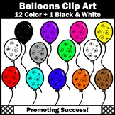 Birthday Balloons Clipart for Bulletin Boards, Newsletters SPS