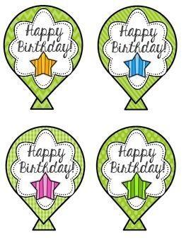 Birthday Balloons Craft FREEBIE