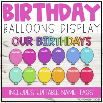 Birthday Balloons Display
