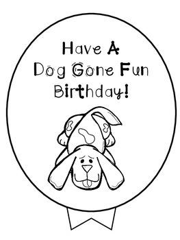 Birthday Balloons -Dog Theme FREEBIE