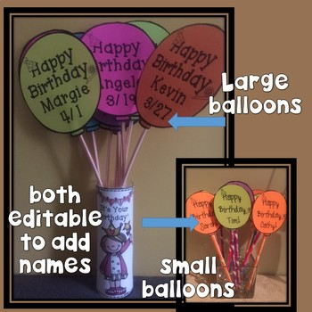"Birthday Balloons! *EDITABLE"" and More!"