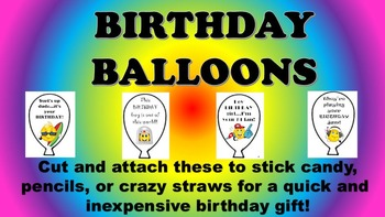 Birthday Balloons Easy Gifts For Students