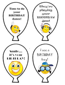 Birthday Balloons-Easy birthday gifts for students