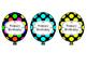 Birthday Balloons: Neon Polka-Dot Themed