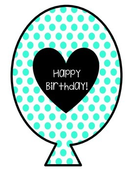 Birthday Balloons - Polka Dots