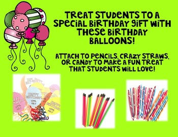 Birthday Balloons - Polka Dots