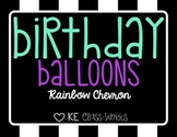 Birthday Balloons - Rainbow Chevron