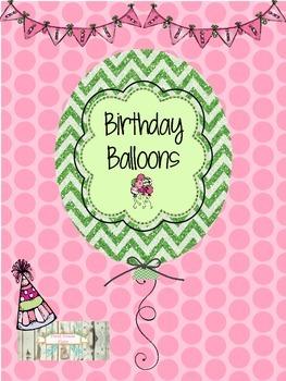 Birthday Balloons - 'Sip, Sip, Hooray!