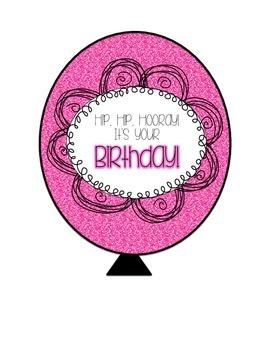 Birthday Balloons - Sparkle