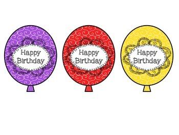 Birthday Balloons: Swirly Whirly Themed