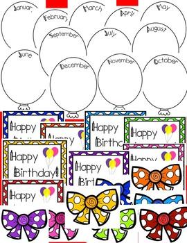 Birthday Balloons Wall Display