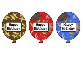 Birthday Balloons: Western or Cowboy Themed