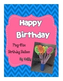Birthday Balloons for Pixy Stix