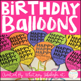 Birthday Balloons for Students - Editable