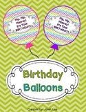 Birthday Balloons with Chevron Theme