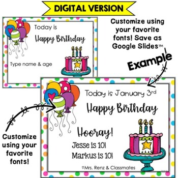 Birthday Banner for your Birthday Wall (Editable in PPT)