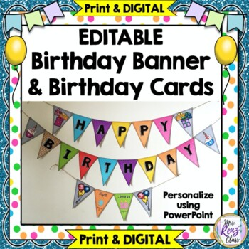 Birthday Banner (Editable in PPT)
