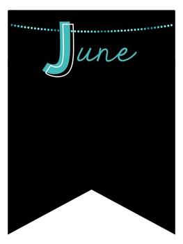 Black & Neon Birthday Banner Display