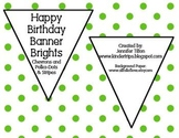 Birthday Banner Bright Colors