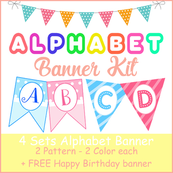 picture regarding Birthday Banner Printable identify Birthday Banner Printables - Polkadot and Stripes