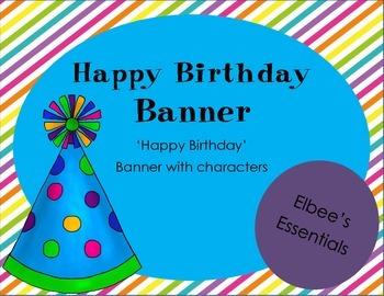 Birthday Banner (Rainbow)