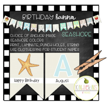 Birthday Banner Seashore