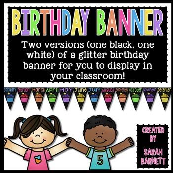Classroom Birthday Display Banner