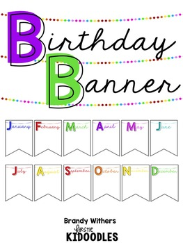 White & Neon Birthday Banner Display