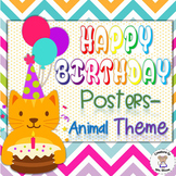 Birthday Banners/Posters - Animal Theme