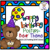Birthday Banners/Posters - Bear Theme