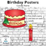 Birthday Banners/Posters - Cake Theme