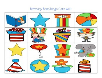 Birthday Bash Bingo