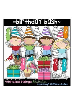 Birthday Bash Clipart Collection