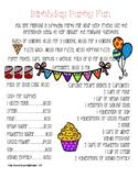 Birthday Bash Life Skills Activity