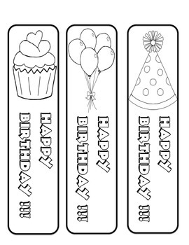 Birthday Bash Pack Sample Bookmarks